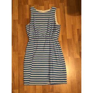 Blue and White Striped J. Crew Dress